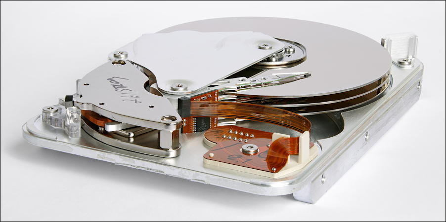 hard drive with read head and platter