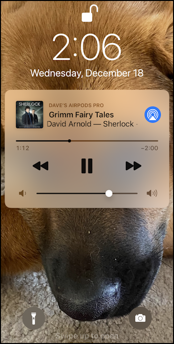 iphone ios13 music controls on lock screen