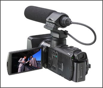 photo image of sony camcorder