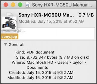 mac change file icon - drag and drop photo