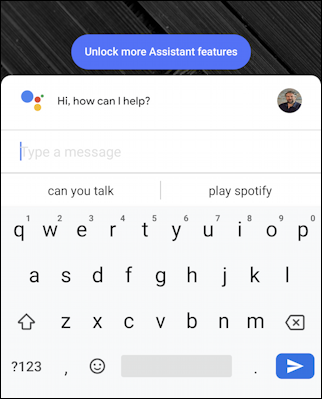 type chat google assistant pixel