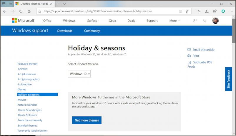 windows 10 holiday themes archive - microsoft.com