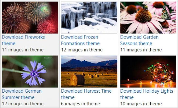 microsoft windows 10 holiday christmas winter themes free download