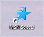 msn news - soccer sports - web shortcut windows win10