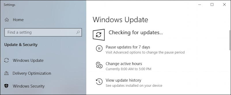 windows 10 - checking for updates - stuck loop