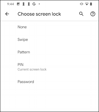 how to unlock android phone security pin