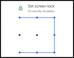 set android swipe pattern security screen lock