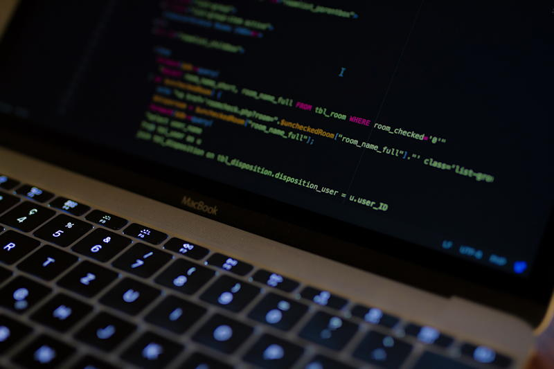 computer code on laptop screen - royalty free image from unsplash.com
