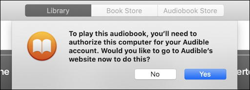 books macos x - authorize audible.com