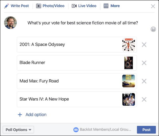 facebook poll - best movie - with posters