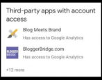 manage control third party apps sites access google account