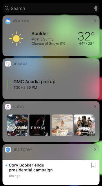 iphone ipad ios13 today view