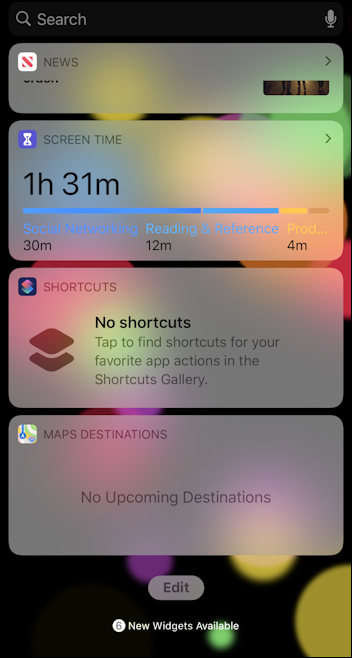 iphone ipad ios13 today view edit button
