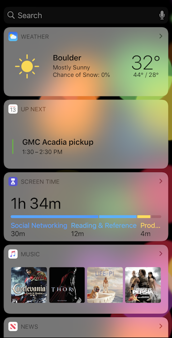 iphone ipad ios13 today view - updated