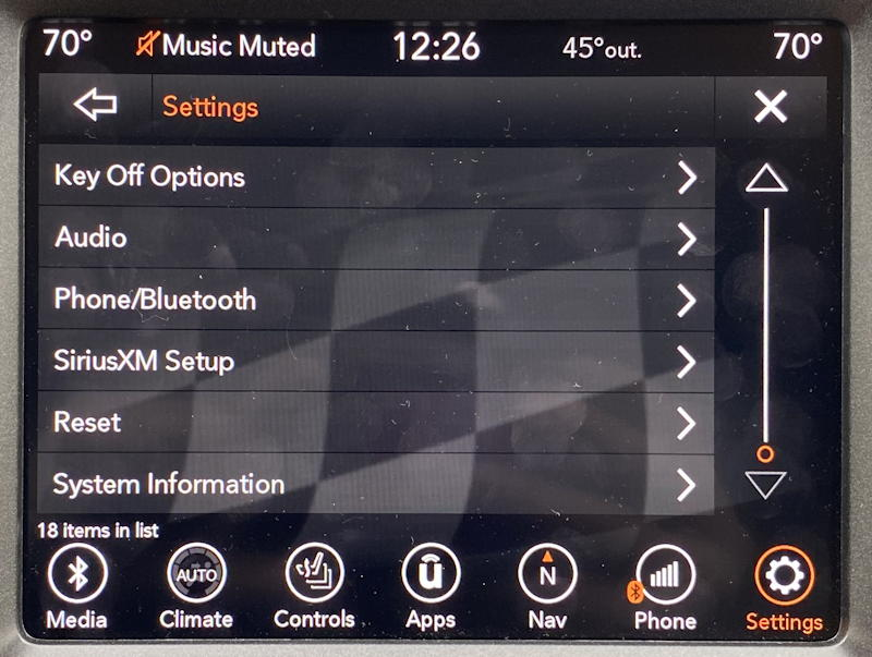 uconnect jeep nav system - paired phones