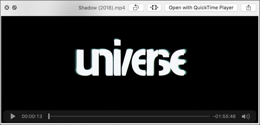 mac preview window - mp4 movie duration