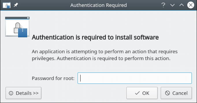 opensuse linux - authorization required for install installation