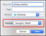 how to save webp images in jpeg png mac chrome