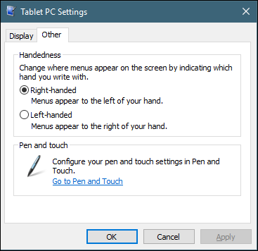 windows 10 - calibrate stylus