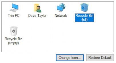 win10 choose new desktop trashcan recycle bin icons