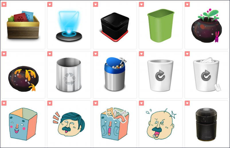 iconarchive.com - recycle icons