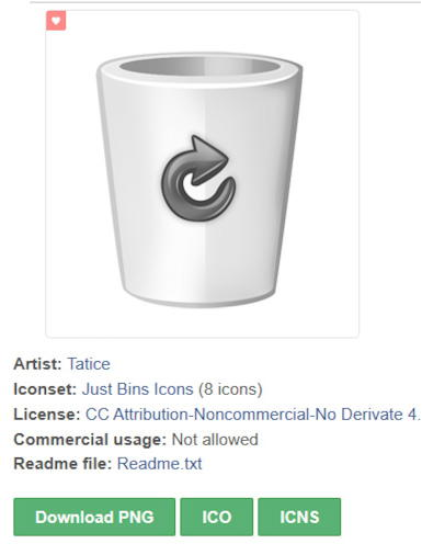 download recycle bin icon