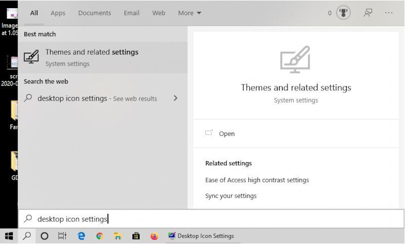 win10 search 'desktop icon settings'
