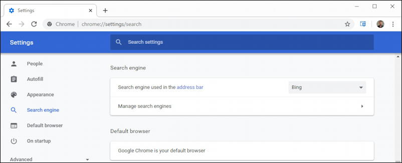 win10 google chrome - settings preferences