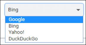 win10 google chrome - default search engine choices options