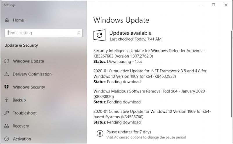 win10 downloading update windows 10