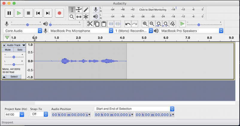 mac macos x 10.15 catalina audio recording audacity