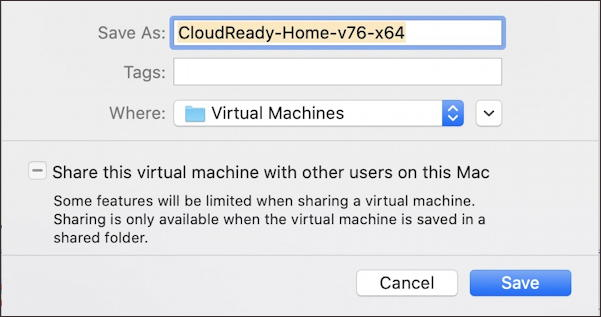vmware fusion - install chromeos chromiumos - name your vm