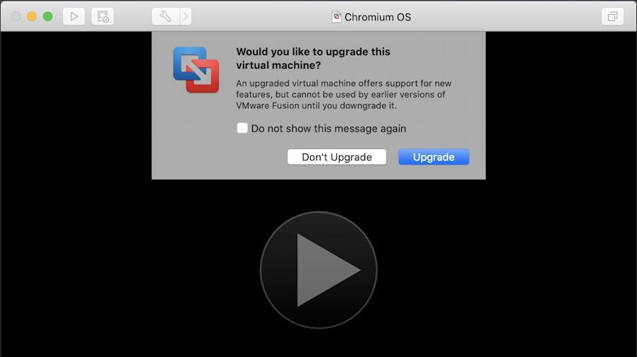 vmware fusion - install chromeos chromiumos - update vmware vm