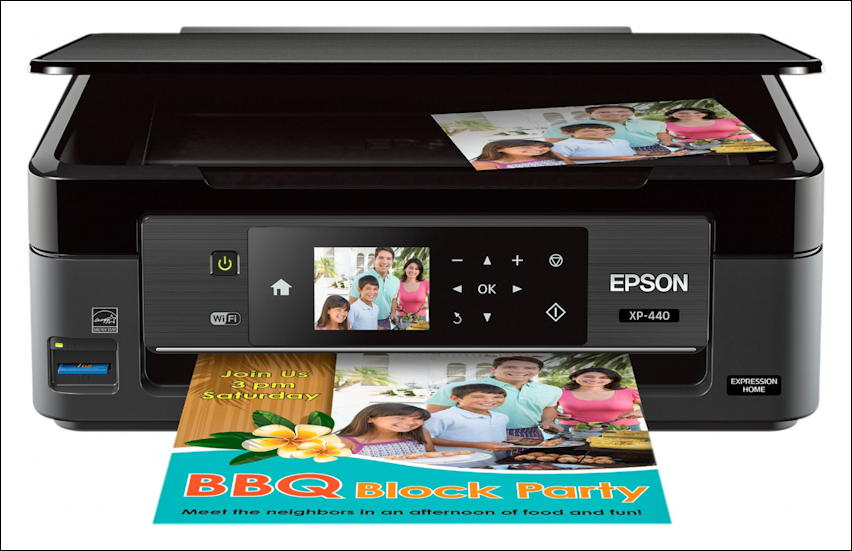 Epson XP 440 color photo printer