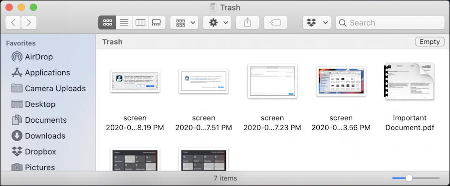 macos x - contents of trash