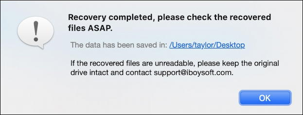iboysoft data recovery pro for mac - file recovered