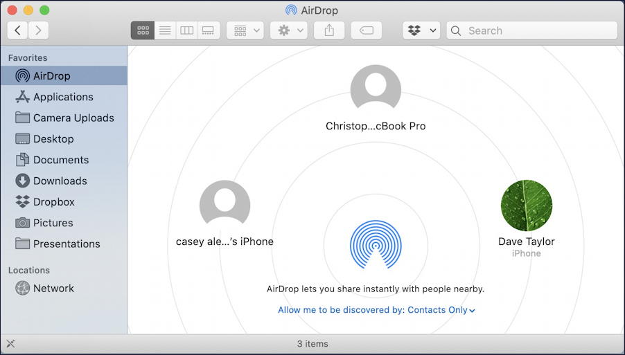 iphone mac airdrop - airdrop visibility setting