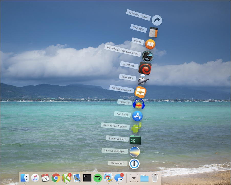mac macos x - dock - folder display fan