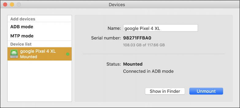 macdroid android file access setup