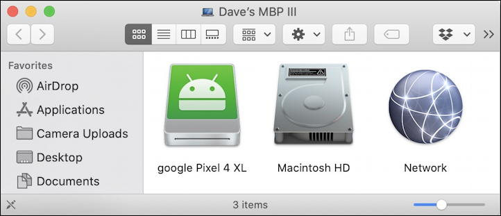 android device as mac external drive