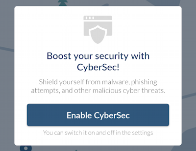 nordvpn for android - add cybersec
