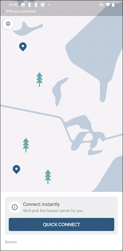 nordvpn android - get started