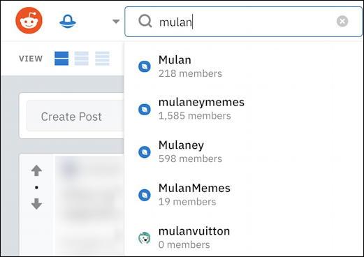 reddit search suggestions 'mulan'