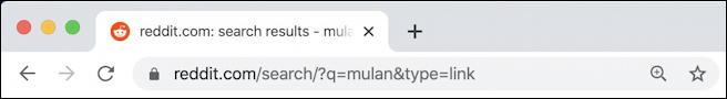 reddit search results URL