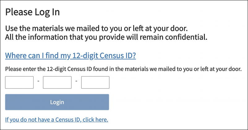 enter your census id - us census 2020 how to fill out answer
