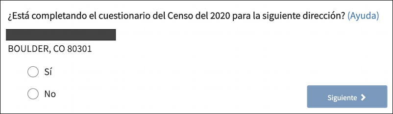 2020 us census questionnaire - confirm address in spanish espanol