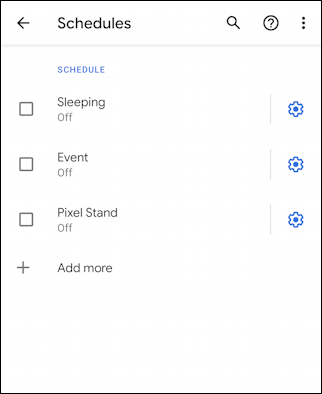 android 10 - do not disturb settings preferences - schedules