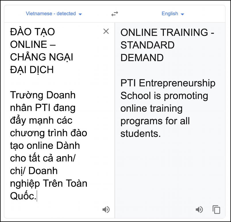 email spam - translated from vietnamese to english