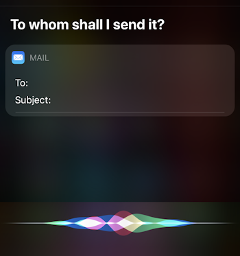 siri send email - to whom? apple mail iphone ios13