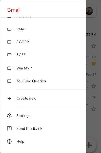 iphone gmail main menu ios13 ipad
